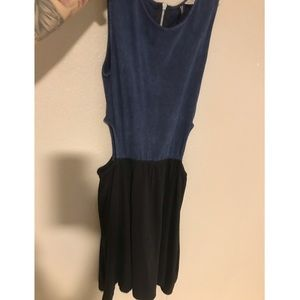 Two tone side cut out divided dress